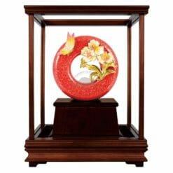 DY  芝蘭之香大紅金玻璃櫥