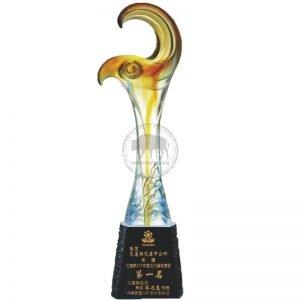 YC K 水晶琉璃獎杯