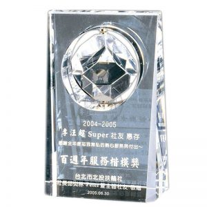 ALC (D)水晶旋轉獎杯