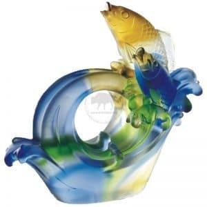 連年有魚名片座琉璃訂製