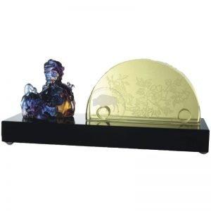 雙貔貅名片座琉璃訂製