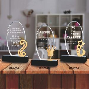 PF-076-0911 Crystal Plaques
