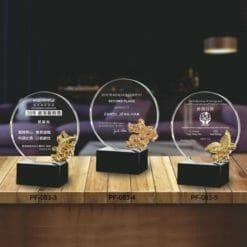 PF水晶金屬獎牌
