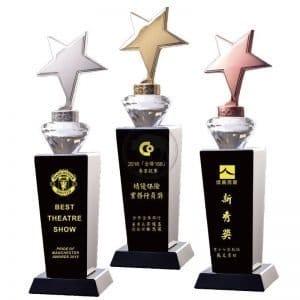 PG 星星便宜水晶獎盃