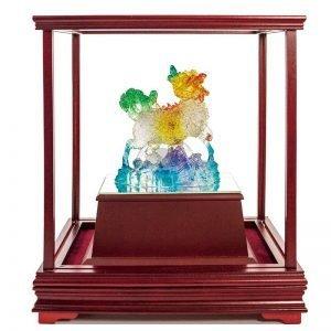 UBB 富貴齊臨水琉璃玻璃櫥窗