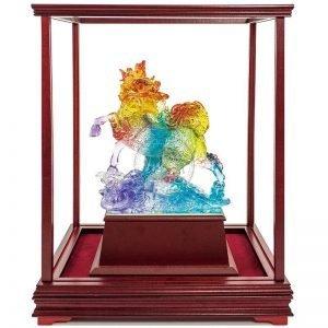UBC 富貴麒麟水琉璃玻璃櫥櫃