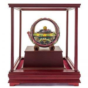 UHB 年年有福交趾陶玻璃櫥櫃