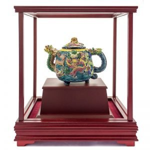 UHB 龍王送福交趾陶玻璃櫥櫃
