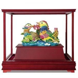 UHF 鴛鴦交趾陶玻璃櫥櫃