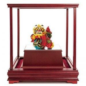ULB 獅獅如意彩繪雕塑玻璃櫥窗