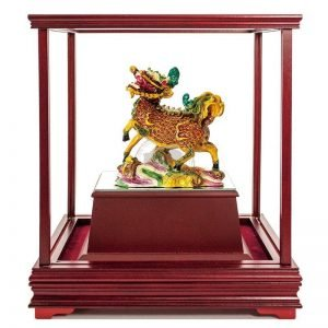 ULB 麒麟獻瑞彩繪雕塑玻璃櫥窗