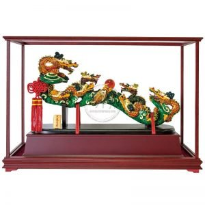 ULG 九龍呈祥彩繪雕塑玻璃櫥窗