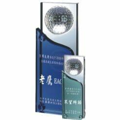 高爾夫水晶獎座禮物