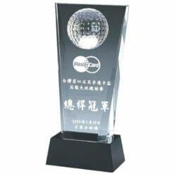 高爾夫水晶獎座設計