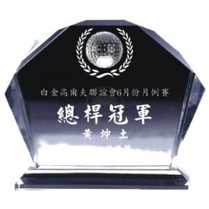 YC-G608-B Crystal Golf Awards