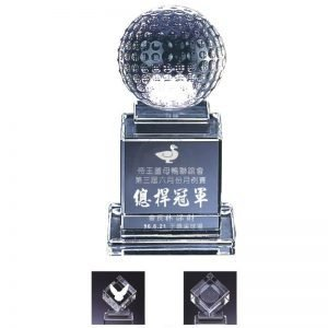 Small Award Crystal Golf Awards