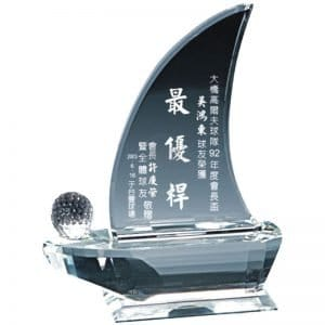 YC-G618 Crystal Golf Awards