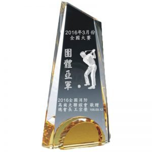 YC-G672-B Crystal Golf Awards