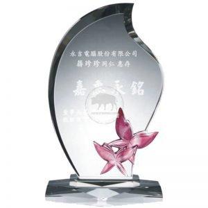 水晶琉璃獎牌設計