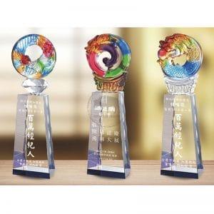 琉璃水晶獎盃客製化 PE-096097-1