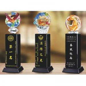 琉璃黑水晶獎盃訂做 PE-107107-2