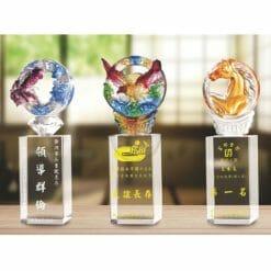 琉璃便宜水晶獎盃 PE-117117-2