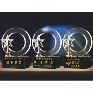 團體水晶獎盃定製 PF-060-2123