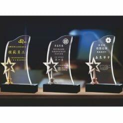 團體水晶獎盃訂購 PF-075-2123