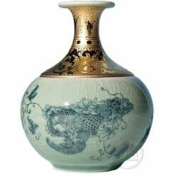臺華窯花瓶 - 青花龍魚 0110000022