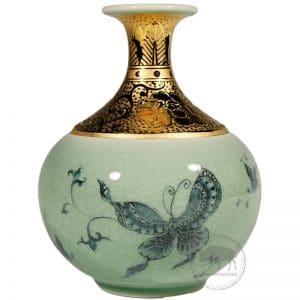 台華窯花瓶 - 青花蝴蝶 0110000232