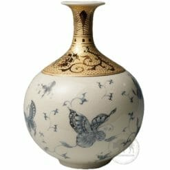 臺華窯花瓶 - 青花蝴蝶 0110000625