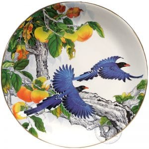 臺華窯轉寫盤 - 藍鵲飛來萬事如意 1510000390
