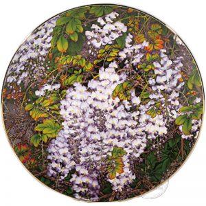 臺華窯轉寫盤 - 紫氣東來富貴春滿 1510002116
