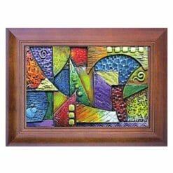 20A221-10 壁掛鑰匙盒抽象畫