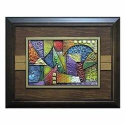 20A222-10 鑰匙盒抽象畫